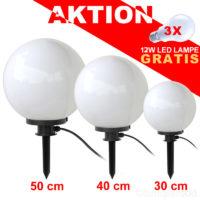 Kugellampe-30-40-50-Set-Aktion-Leuchtmittel-Gratis, Sie erhalten gratis zu jedem Kauf eines Kugellampen Set 30 40 50 cm jeweils eine 12 Watt LED Lampe kostenlos dazu