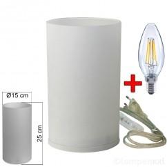 tischleuchte-glas-wei_-tischlampe-e14-in-zylinder-form-hoehe-25cm-mit-led-filament-kerze-2-watt-klar